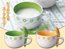 スプーン付フラワースープカップ