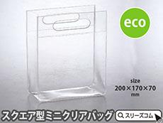 EVA透明ビニールバッグ:スクエアミニ
