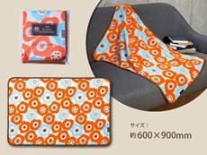 日本風柄ブランケット