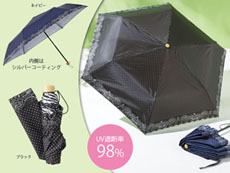 ドット柄晴雨兼用折り畳み傘