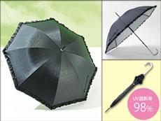 黒フリル晴雨兼用傘
