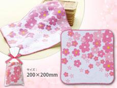 桜の花びらハンドタオル