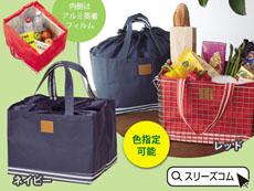 【色指定可】ボックス型保冷温レジカゴバッグ