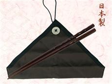 オリジナル記念品可能な日本製マイ箸染め彫茶袋セット