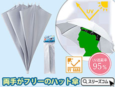 オリンピックで話題の頭にかぶる傘。熱中症予防UVカット