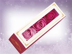 バラの形の紙石鹸
