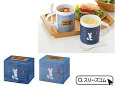 キャラクター:スプーン付デニムマグカップ