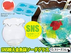 金魚鉢グラス&魚型セット