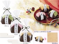 日本イメージさせる ふんわり和菓子タオル
