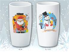 クリスマス陶器製カップ