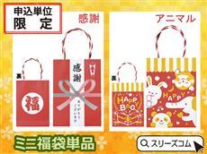 福袋用袋単品:ミニサイズ紅白系
