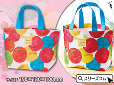 フルーツ柄ミニトートバッグ